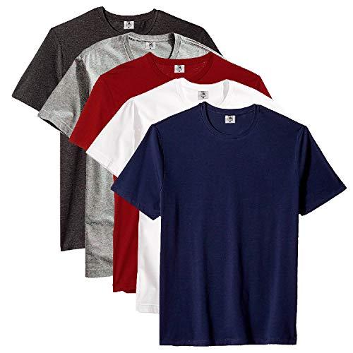 Kit com 5 Camiseta Masculina Básica Algodão Premium (Noronha, P)