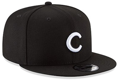 New Era Authentic Chicago Cubs Black & White 9Fifty Snapback OSFM Hat Cap- Adjustable