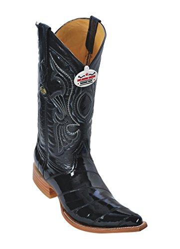 EEL 3X Black Genuine Altos Men's Boots Leather Western Toe Los ZW1gYST7x