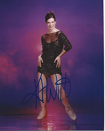 KATARINA WITT - FIGURE SKATER WON Two OLYMPIC MEDALS in 1984 and 1988 - Signed 8x10 Color Photo - Autographed Sports Photos (Katarina Witt Figure)