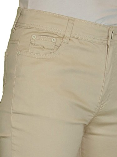 Beige Donna Tratto Gambe Rettilineo Jeans Con Ice TUqxW6wBYY