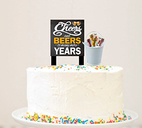 Alcohol Lovers Cake/Food / Cupcake Birthday Party Decoration