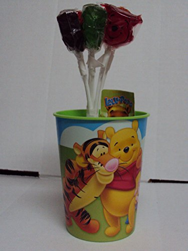 "DISNEY'S ""Winnie-the-Pooh Pack of 5 Lollipops + Plastic 16oz Cup"""