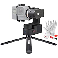 Feiyutech WG2 3-Axis IP67 Waterproof Wearable Gimbal Stabilizer for GoPro HERO5 HERO4 Session AEE SJCam and Other Similar-Sized Action Cameras Including PERGEAR Mini Tripod and Cleaning Kit