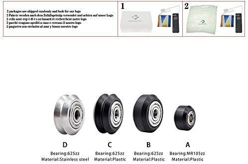 Piezas de la impresora 3D CNC Openbuilds Rueda de plástico POM ...