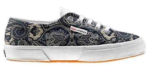 Superga zapatos personalizados (Producto Artesano) - Blue Paisley (Producto Artesano)