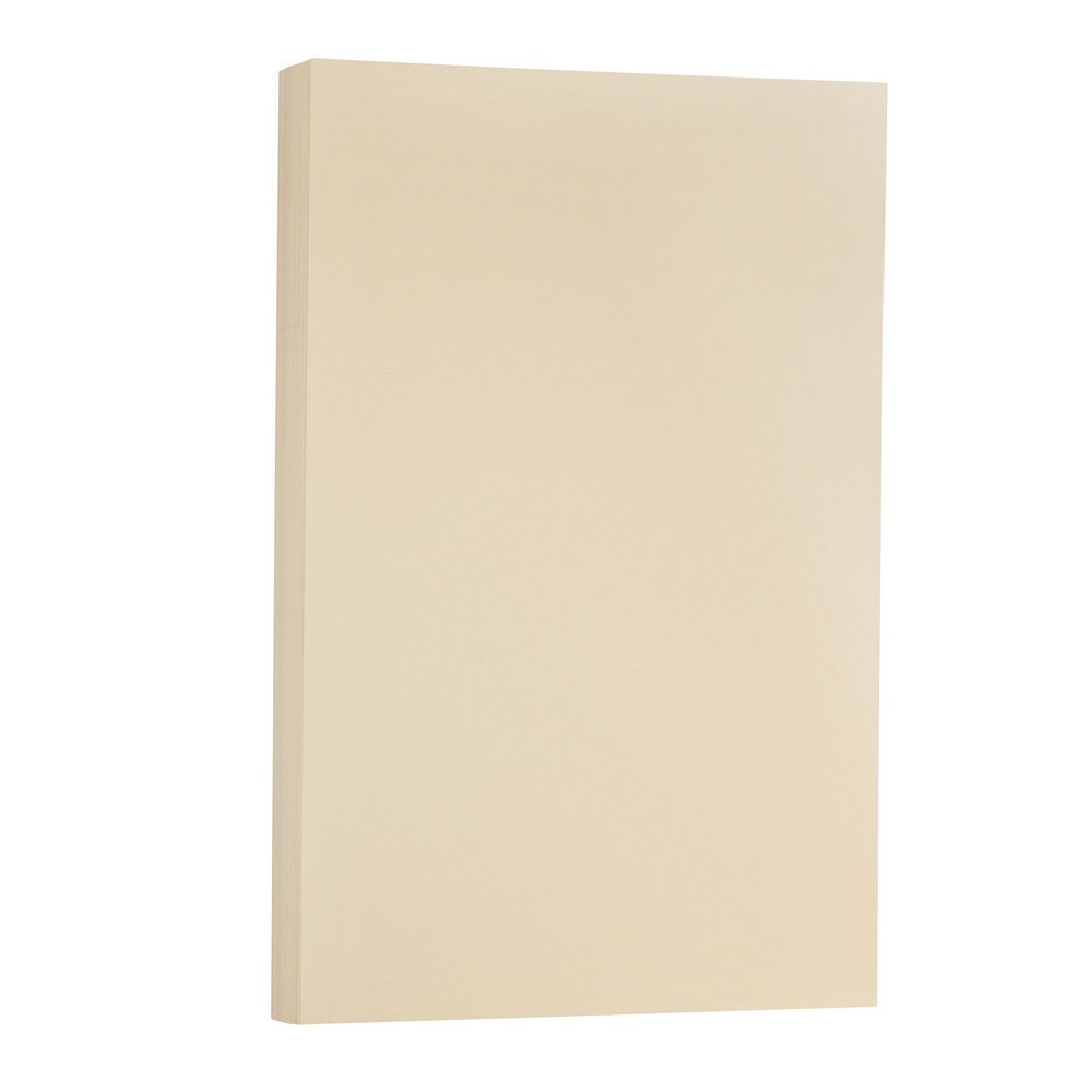 JAM PAPER Legal Vellum Bristol 67lb Cardstock - 8.5 x 14 Coverstock - Ivory - 50 Sheets/Pack by JAM Paper