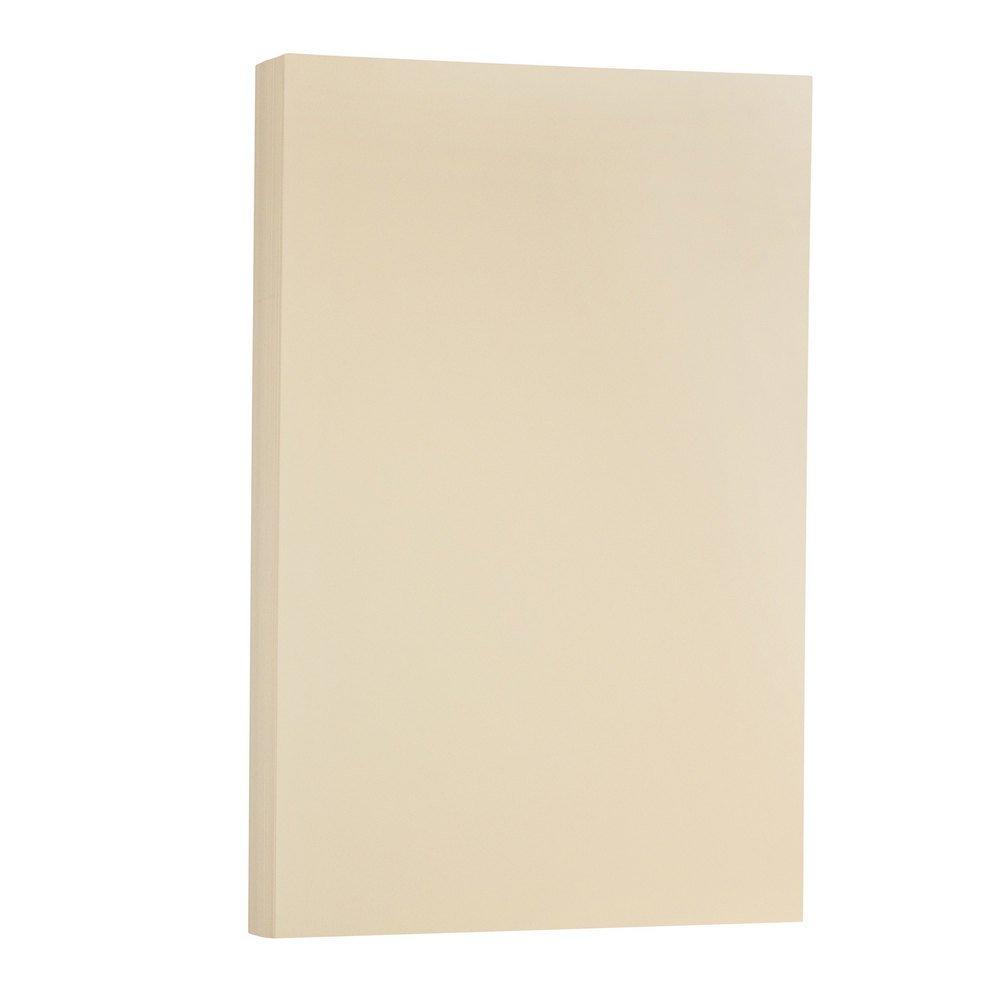 JAM PAPER Legal Vellum Bristol 67lb Cardstock - 8.5 x 14 Coverstock - Ivory - 50 Sheets/Pack
