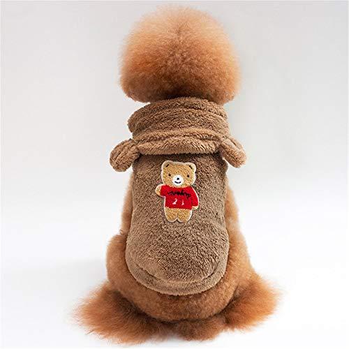 Jdogayncat Pet Supplies, Teddy Bear, Small Dog, Bear Ears, Hooded Jacket, Dog Clothes, Autumn and Winter -