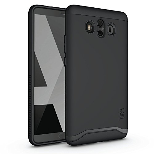 Huawei Mate 10 Case, Slim-Fit HEAVY DUTY [MERGE] EXTREME Protection / Rugged but Slim Dual Layer Case for Huawei Mate 10 (Matte Black)