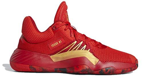 adidas Men's D.O.N.ssue #1 Basketball Shoe, Red/Power Red/Gold Metallic, 11 Medium US