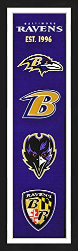 Baltimore Ravens Fan Banner (Baltimore Ravens Framed Heritage Banner 13x36)