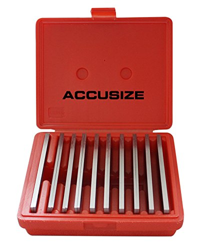 AccusizeTools - 1/8'' Thickness 10 Pair/Set, Precision Parallel Sets, 6'' Length, #EG10-1400 (Precision Parallel Set)