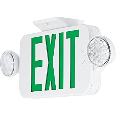 Progress Commercial PECUE-UG-30-RC LED Exit Sign Combo, White