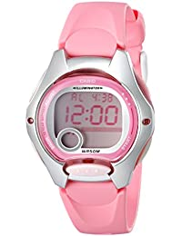 Womens LW200-4BV Pink Resin Digital Watch