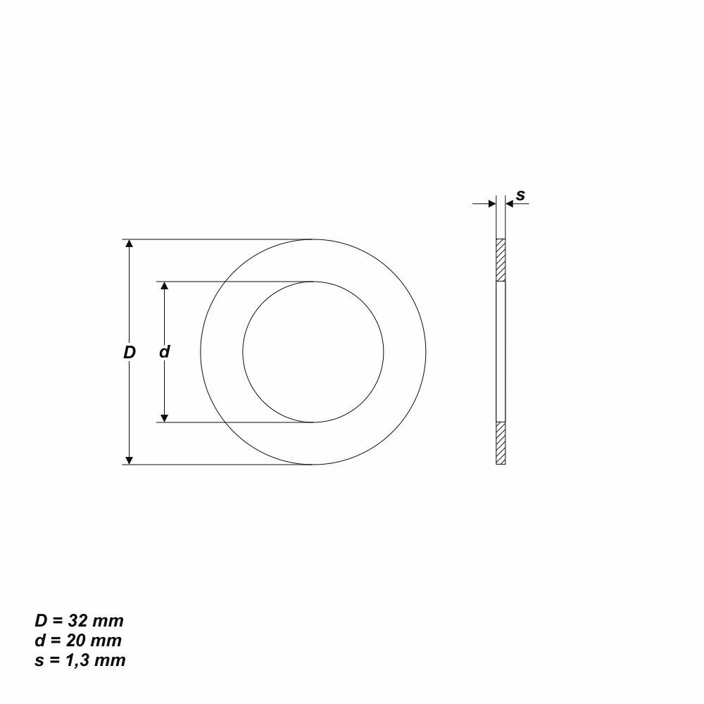 Reduzierringe Reduzierring Ersatzring f/ür Kreiss/ägebl/ätter von 32 mm auf 20 mm