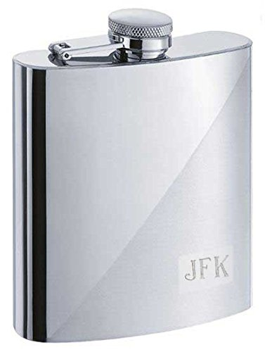 Personalized Visol Duo Two-Tone Stainless Steel 8 oz Flask with Free Engraving