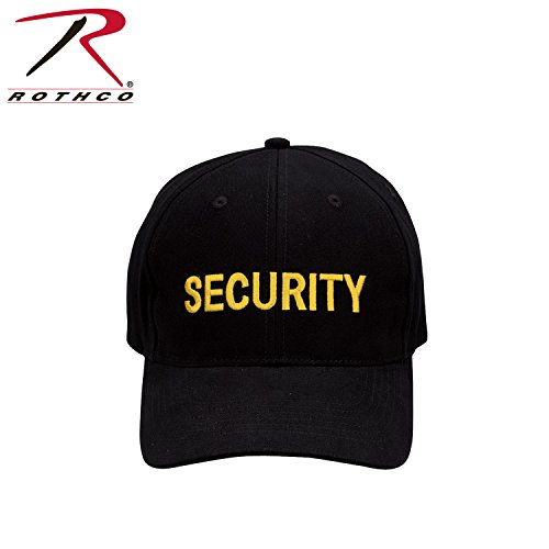 Police Low Profile Cap (Rothco Security Low Profile Cap, Black/Gold)