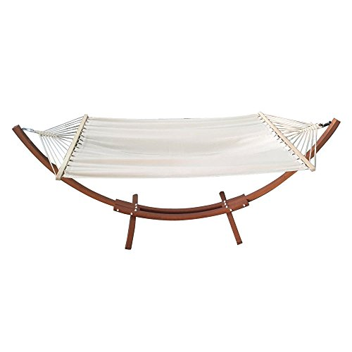 OnCloud Double Hammock with Wood Arc Stand