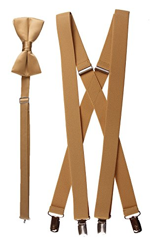 Bow Tie and Suspender Set Combo in Men's & Kids Sizes (48