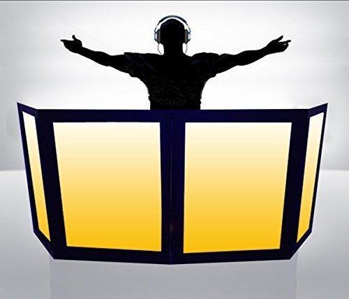 DJ Facade / DJ Booth by Dragon Frontboards: Naga 2 LG 2 SM - 4 Panel / Black Frame