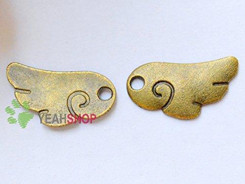 Antique Brass Pendants - Angel wings - 18mmx9mm - 150 PCS (JP113) ()