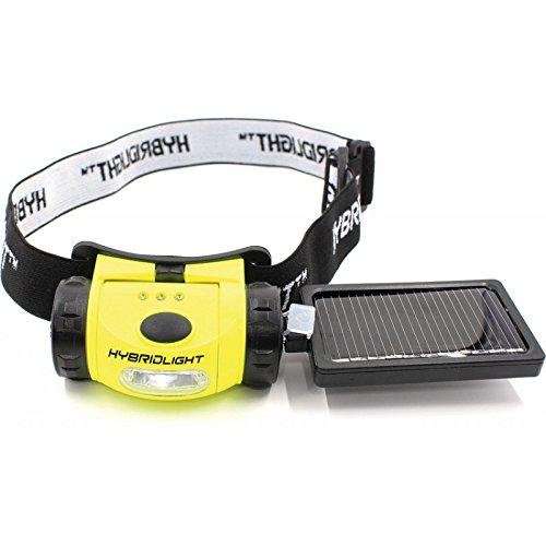 - Hybridlight Solar Head Lamp,75 Lumens, Yellow 1236