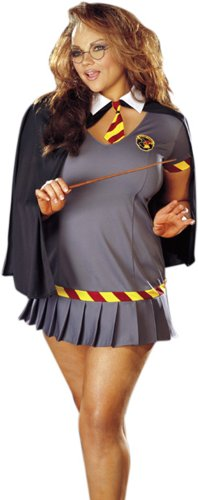 [Plus Size Sexy Wizard Girl Costume Size 1X] (Sexy Witch Costumes Plus Size)