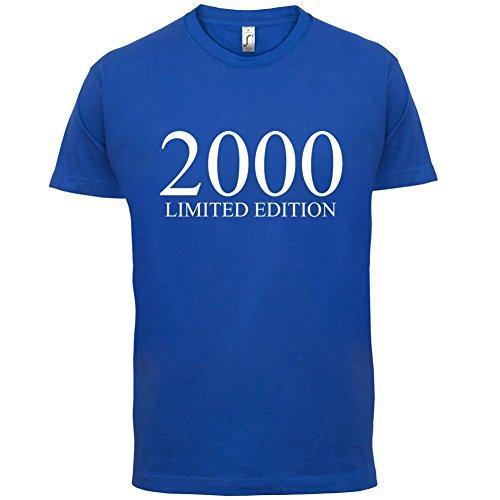 2000 Limierte Auflage / Limited Edition - 17. Geburtstag - Herren T-Shirt - Royalblau - XXXL