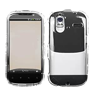 Fits HTC Amaze 4G Hard Plastic Snap on Cover Transparent Clear T-Mobile