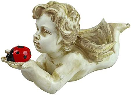 Solar Lighted Mariah Cherub Light – Landscape Ornament Product SKU SO10243