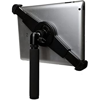 """iShot G10 Pro Large Universal iPad Pro Tablet Tripod Mount + Camera Tripod Adapter Hand-Held Monopod w/ 360° Locking Swivel Mini Ball Head Adjustable for All 8"""" to 13"""" Tablets With or Without a Case"""