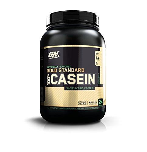 OPTIMUM NUTRITION GOLD STANDARD 100% Whey Protein Powder, Naturally Flavored Strawberry, 4.8 Pound (Optimum Casein 2 Pound)