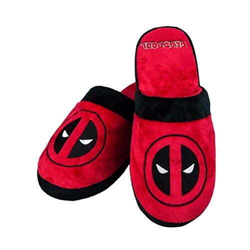 Deadpool Official Marvel Adult Mule Slip-On Slippers - UK 8-10 One Size -