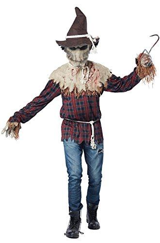 California Costumes Men's Sadistic Scarecrow Costume, Brown, Small/Medium (Scarecrow Costumes For Adults)