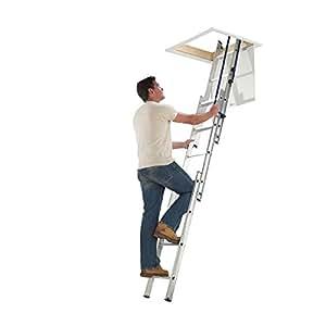 Blue Seal Easy Stow - Escalera para altillo, de aluminio, 3 secciones