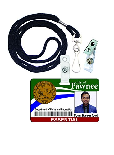 [Tom Haverford Parks and Rec Novelty ID Badge Film Prop for Costume and Cosplay • Halloween and Party Accessories] (Aziz Ansari Costume)