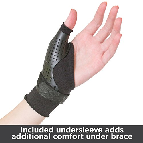 BraceAbility Hard Plastic Thumb Splint | Arthritis Treatment Brace to Immobilize & Stabilize CMC, Basal and MCP Joints for Trigger Thumb, Tendonitis Pain, Sprains (Medium - Left Hand) by BraceAbility (Image #3)