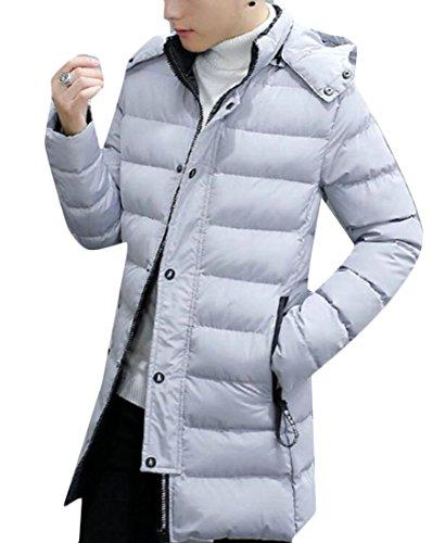 [해외]KLJR-남자 겨울 긴 다운 줄지어 까마귀 자 켓 야외 코트 / KLJR-Men Winter Long Down Lined Hoodie Jacket Outdoor Coat