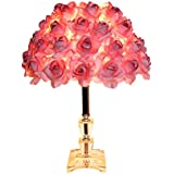 Lewayu0027s Modern Table Lamp With Rose Shade For Living Room,Bedside Decor( Crystal 15.75