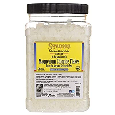 Swanson Magnesium Chloride Flakes 2.2 lb (35.27 Ounce) (1 kg) Flakes