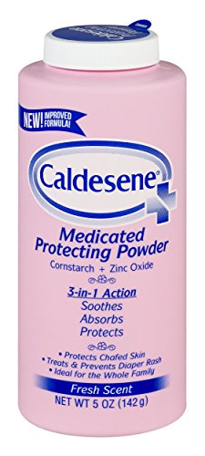 Adult Powder - Caldesene Medicated Protecting Powder with Zinc Oxide & Cornstarch-Talc Free, 5 Ounce