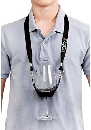 Hands Free Wine Glass Lanyard Holder Strap Necklace Christmas Party Supplies BrawljRORty Lanyard