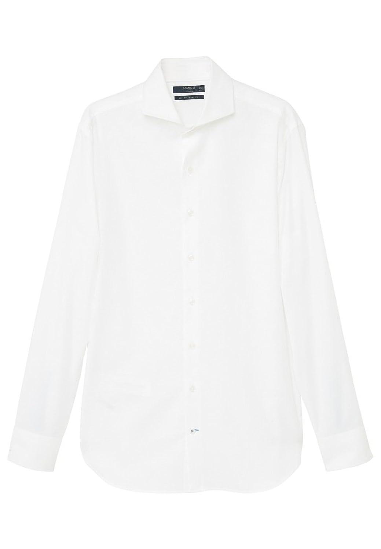 MANGO MAN - Slim-fit tailored cotton Plain shirt - Size:M - Color:White