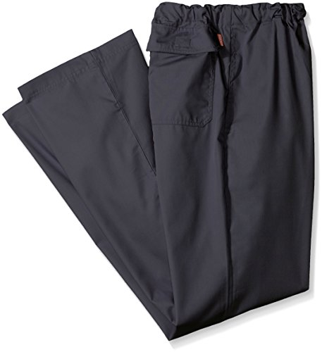 Orange Standard Mens Big And Tall Dockweiler Scrub Pants With Zip Fly And Drawstring Waist  Charcoal  2X
