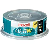 Maxell 700Mb 80-Minute Cd-Rws (25-Ct Spindle) ''Product Type: Memory, Media & Accessories/Recordable Cds''