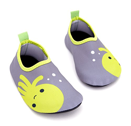 Giotto Kids Swim Water Shoes Quick Dry Non-Slip For Boys & Girls E-grey Y5IGGfuo