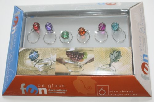 Wound Wire Enclosed Glass Bead Wine Char - Wound Glass Shopping Results