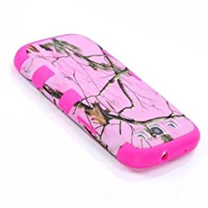 SUPWISER Special Pink Tree Branches Hybird 2 layers Hard Soft Silicone Back Skin Case Cover Fit for Galaxy S3 I9300-Hot Pink Color