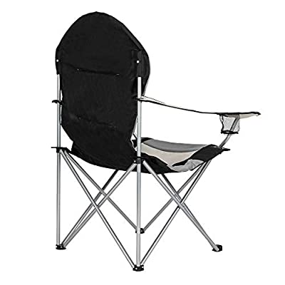 Goujxcy Portable Folding Camping Chair, Outdoor Sports Chair with Carry Bag and Cup Holder for Camping, Fishing, Hiking, Supports 330lbs : Garden & Outdoor
